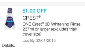 crest 3d white rinse