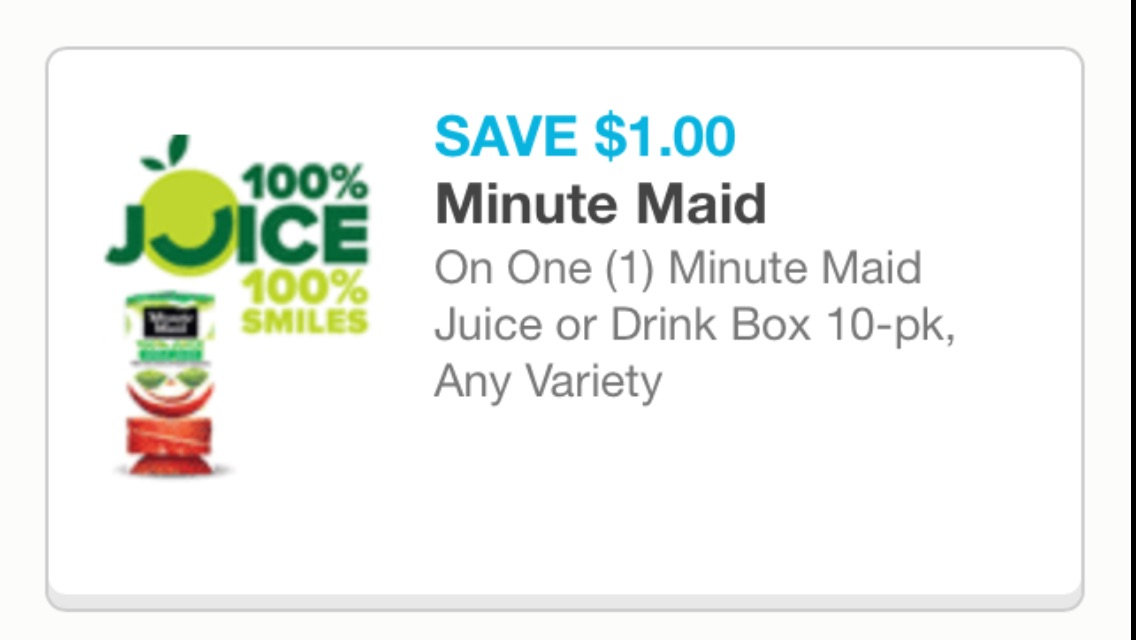 minute maid cupon