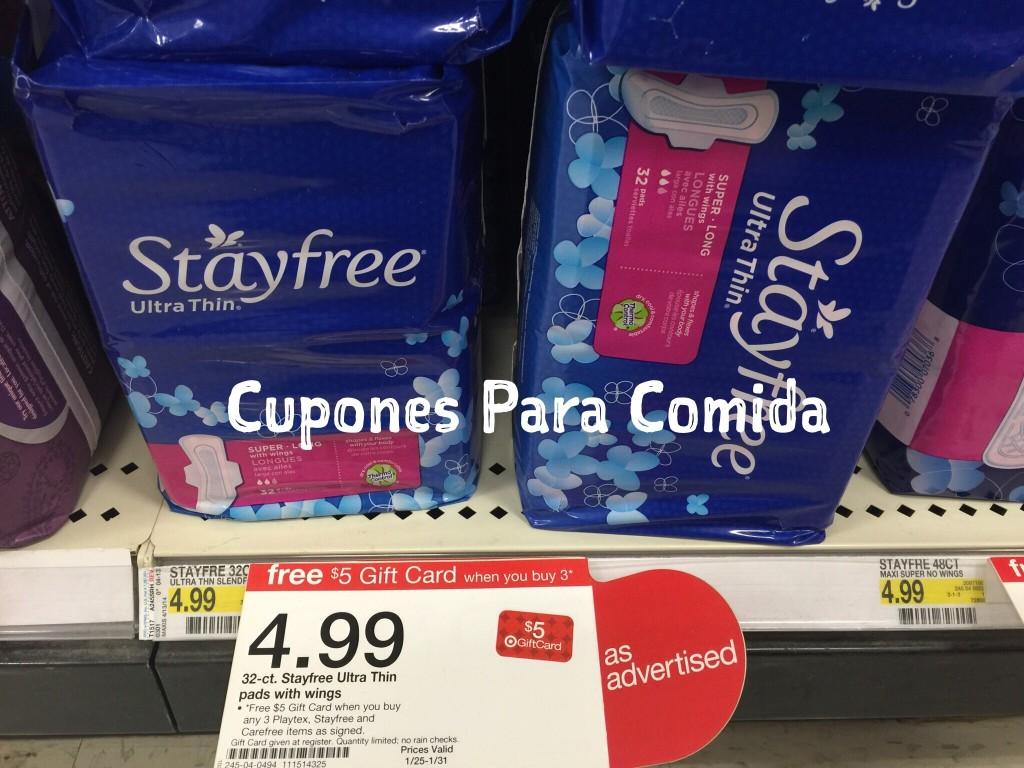 stayfree pads en Target 01/25/15