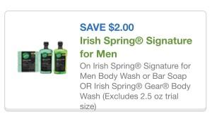 irish spring body wash cupon 2/28/15