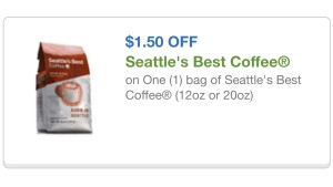 Seattle's best coffee cupon 3/6/15