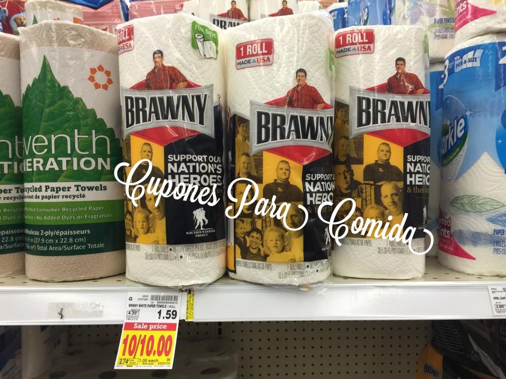 Brawny Paper Towels Single Roll 3/6/15