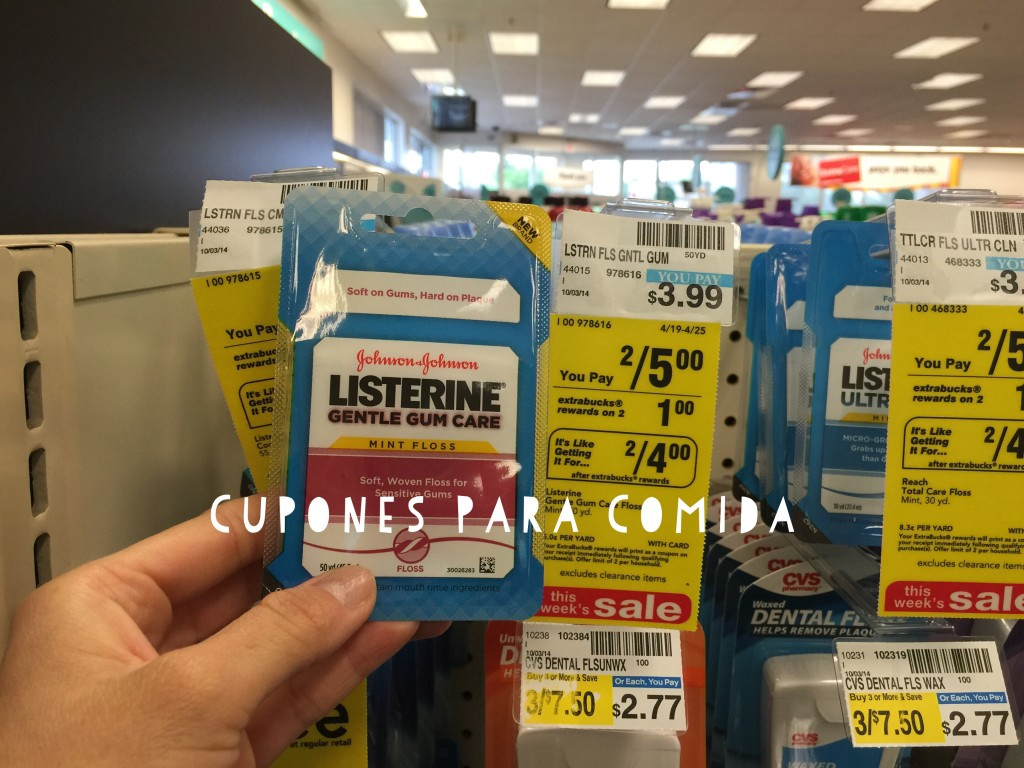 Listerine floss 4/19/15