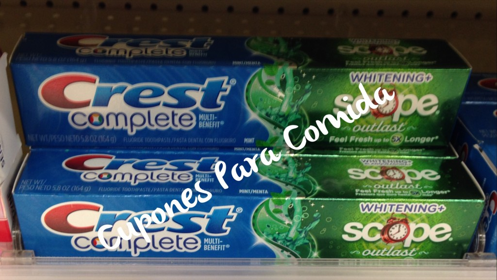 Crest Complete Toothpaste 5/29/15