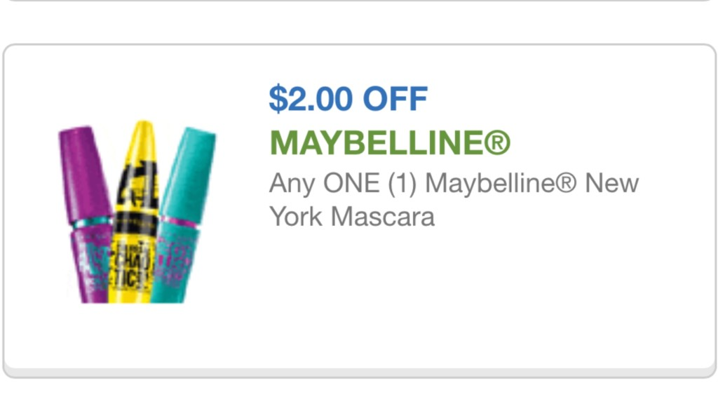 maybelline cupon 8/24/15