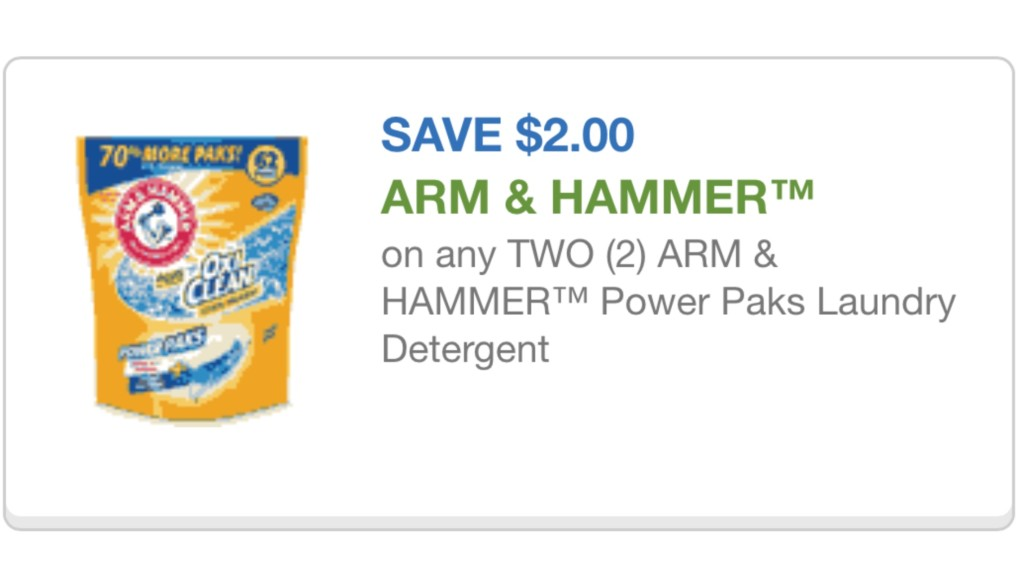Arm & Hammer cupon 8/30/15