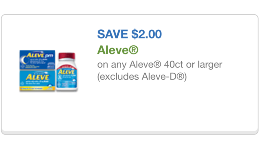 aleve coupon 10/01/15