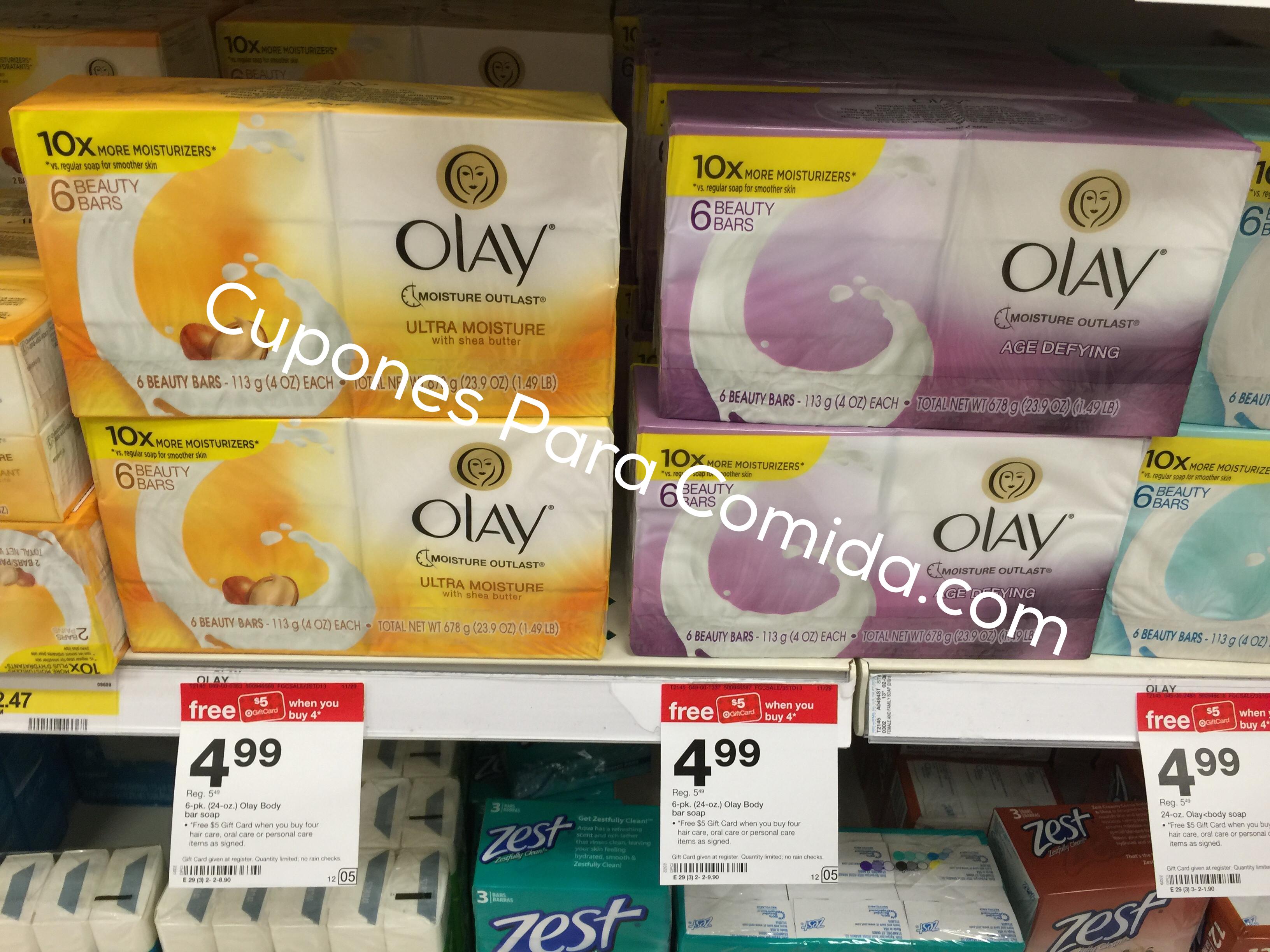 Olay bar soap 6 pk 11/29/15