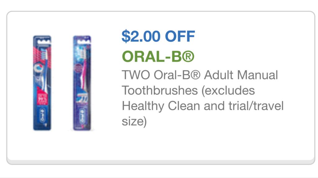 Coupons oral b toothbrush