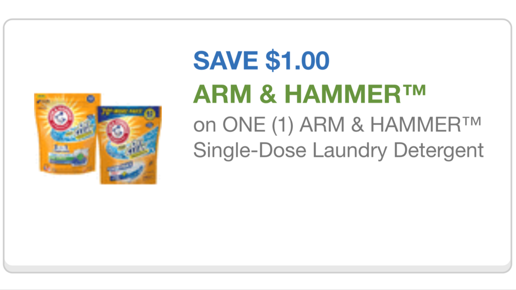 Arm and hammer laundry soap coupons